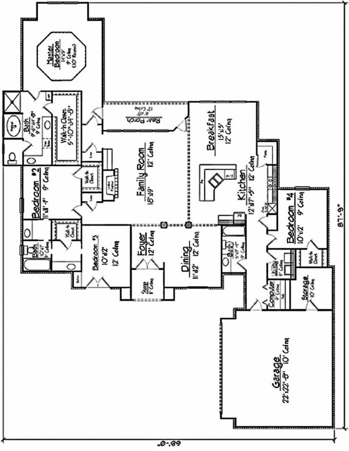 french country kitchen floor plans photo - 7