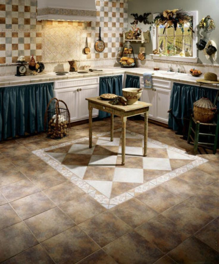french country kitchen flooring photo - 1