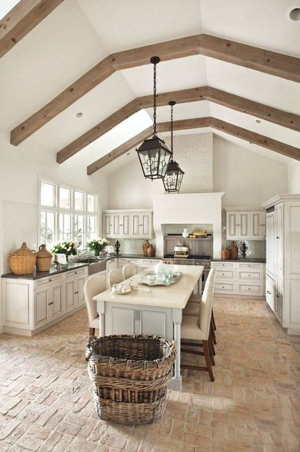 french country kitchen flooring photo - 2