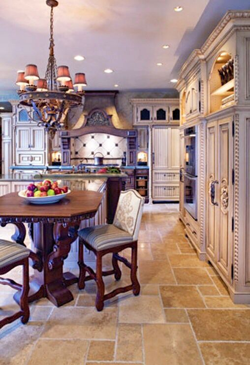 french country kitchen flooring photo - 4