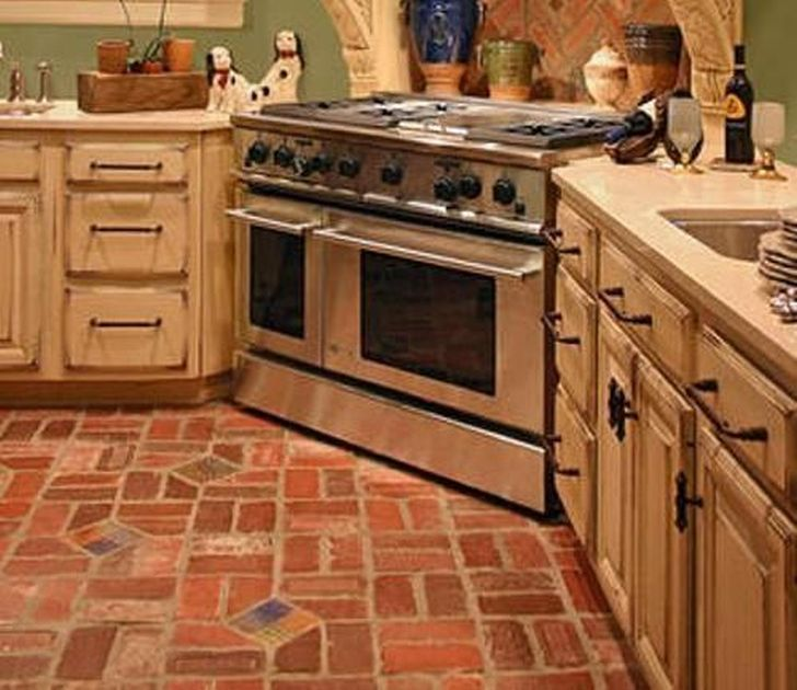 french country kitchen flooring photo - 8