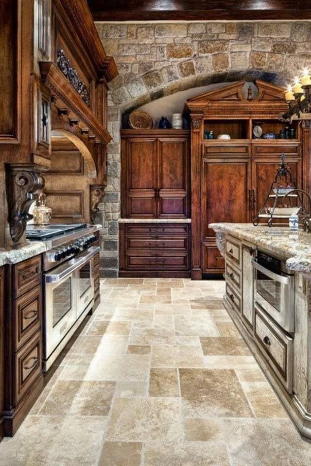 french country kitchen flooring photo - 9