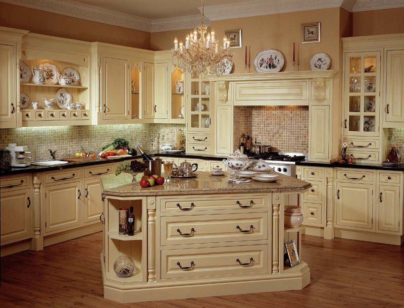 french country kitchen granite photo - 10