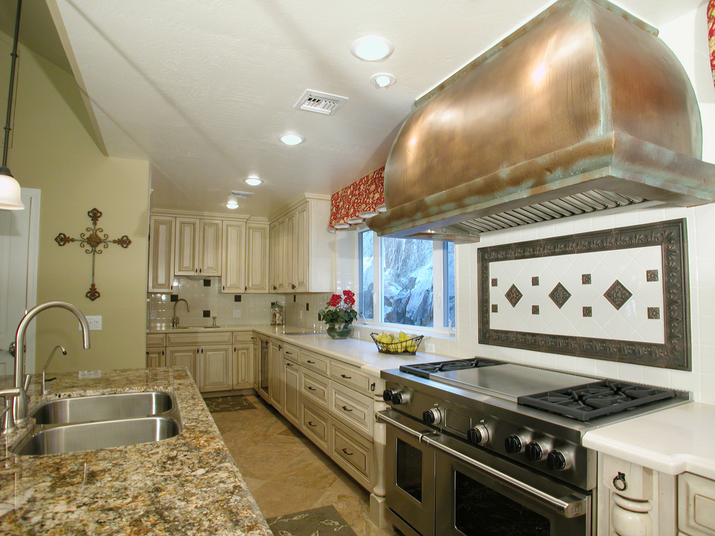 french country kitchen granite photo - 7