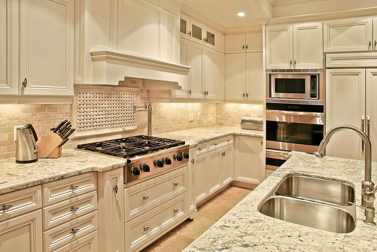 french country kitchen granite photo - 8
