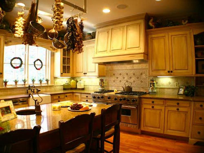 french country kitchen home photo - 10