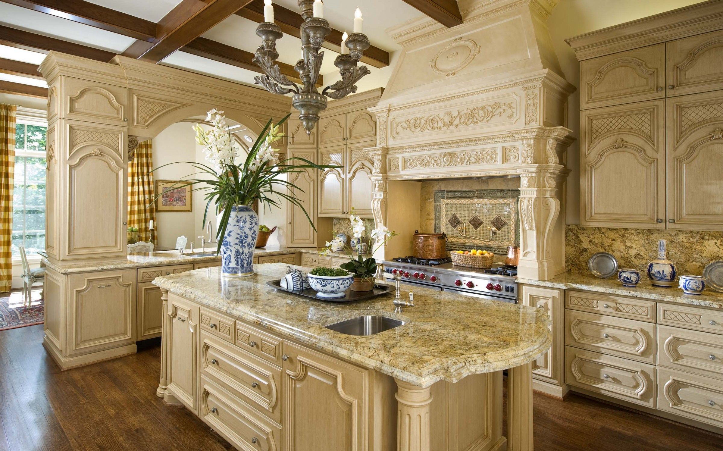 french country kitchen home photo - 9