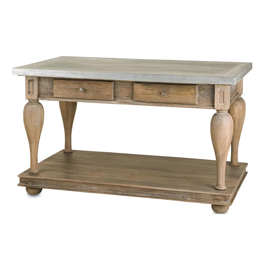 french country kitchen island table photo - 2