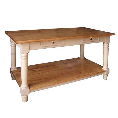 french country kitchen island table photo - 4
