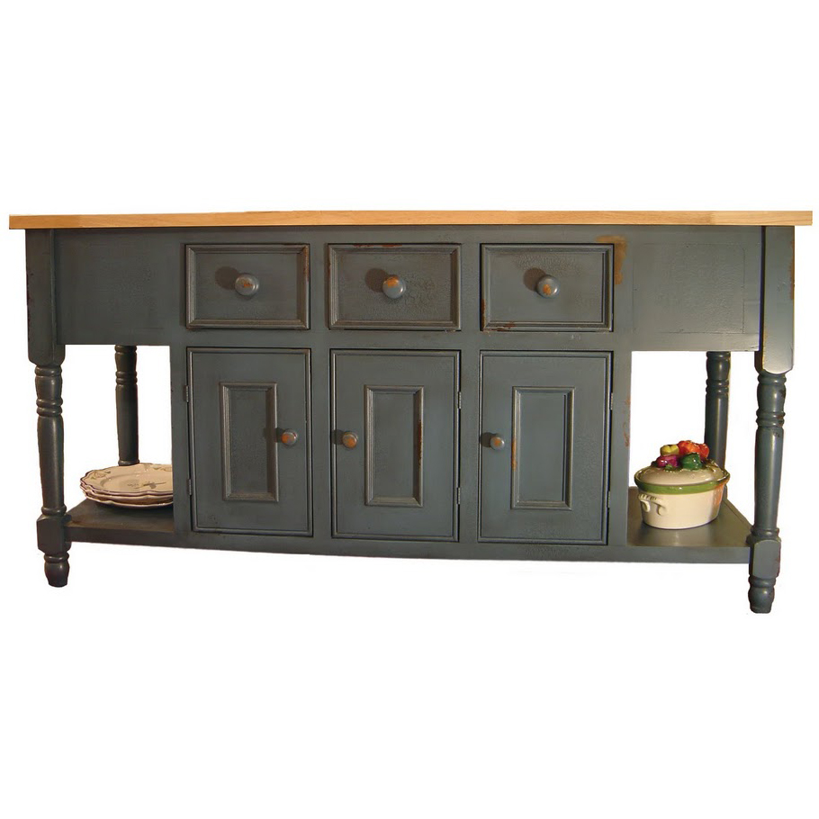 french country kitchen island table photo - 7