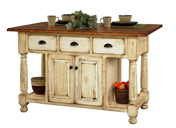 french country kitchen island table photo - 9