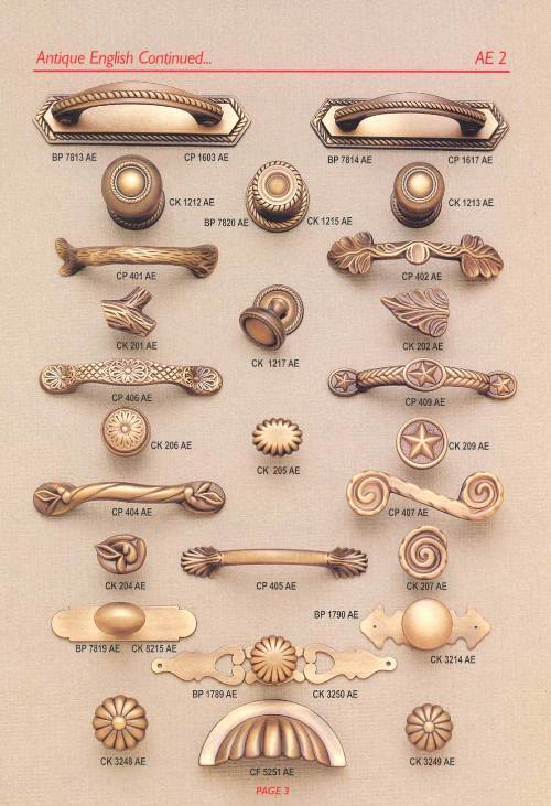 french country kitchen knobs and pulls photo - 2