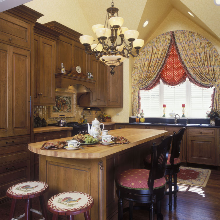 french country kitchen red photo - 5