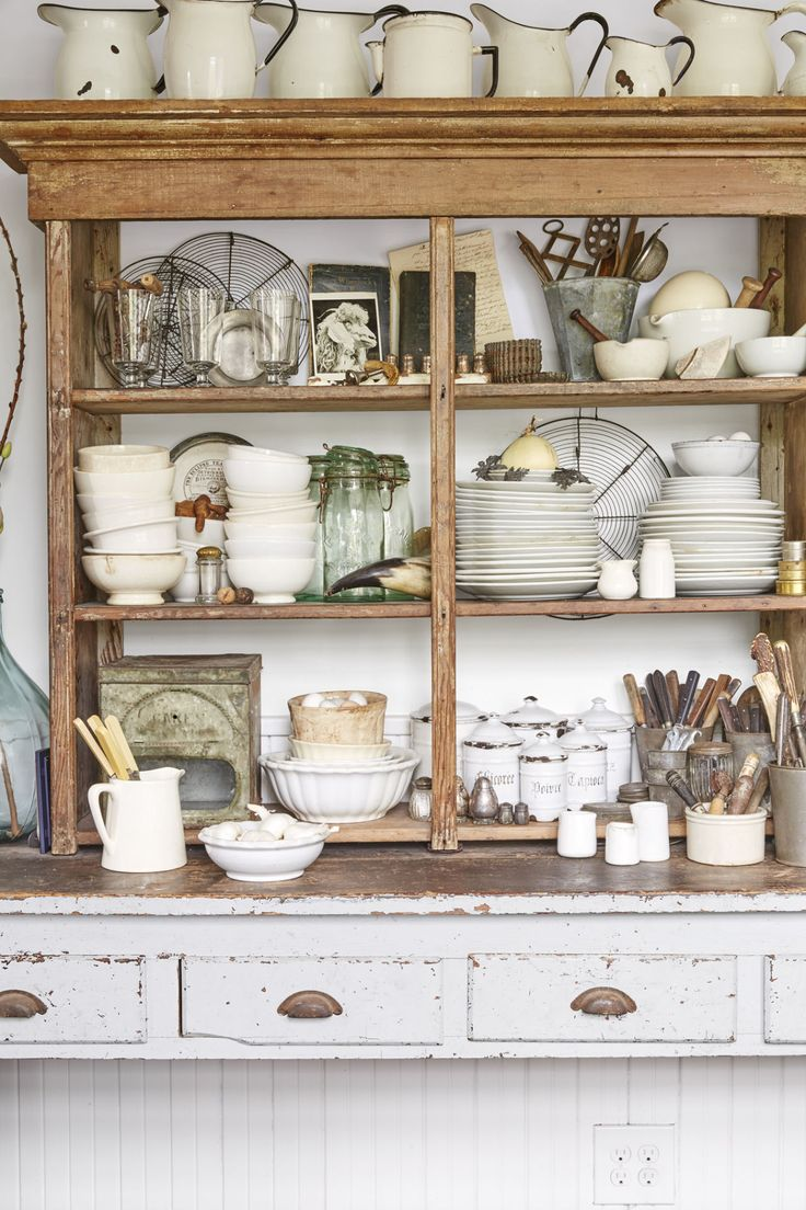 french country kitchen shelf photo - 2