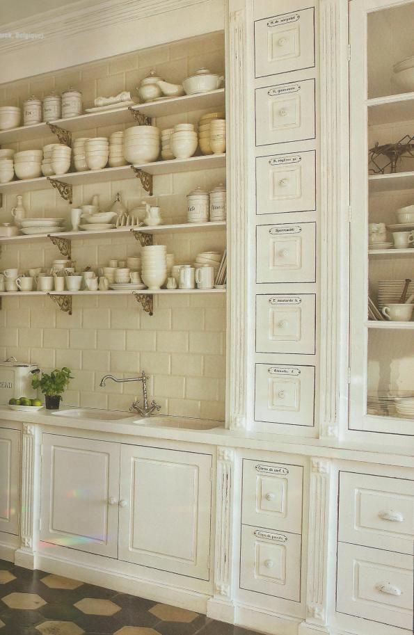 french country kitchen shelf photo - 4