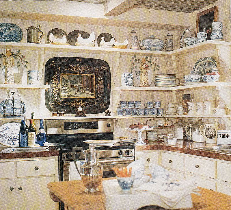 french country kitchen shelf photo - 6
