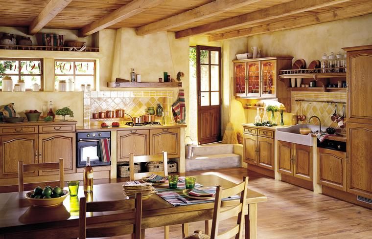 french country kitchen style photo - 7