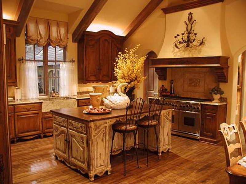 french country kitchen style photo - 8