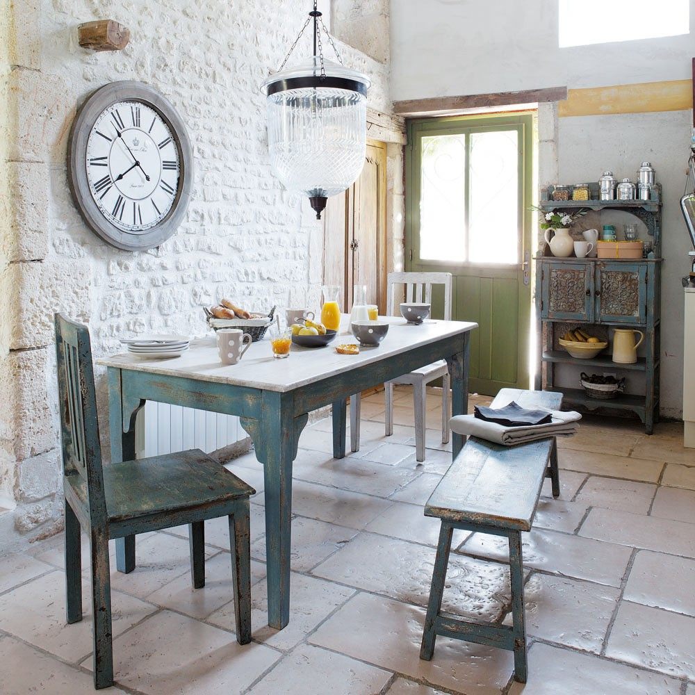 french country kitchen tables and chairs photo - 5