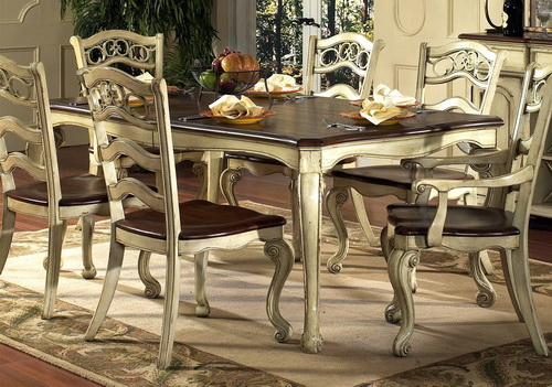 french country kitchen tables and chairs photo - 9