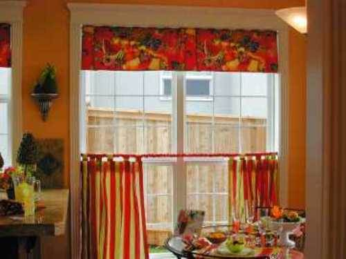 french country kitchen window treatments photo - 4