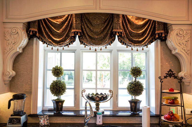 french country kitchen window treatments photo - 9