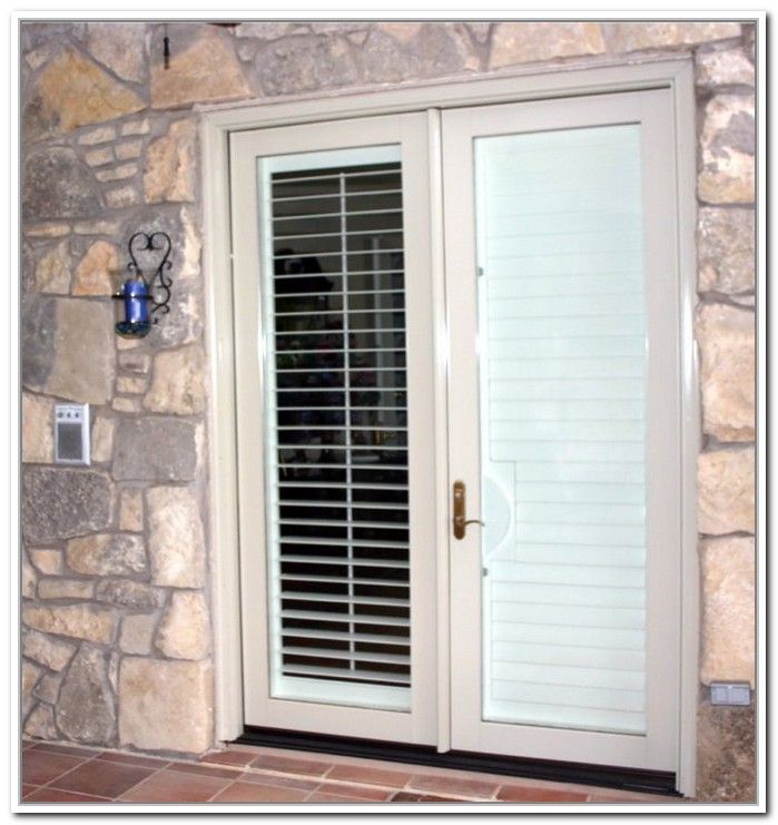 french doors exterior with built in blinds photo - 10