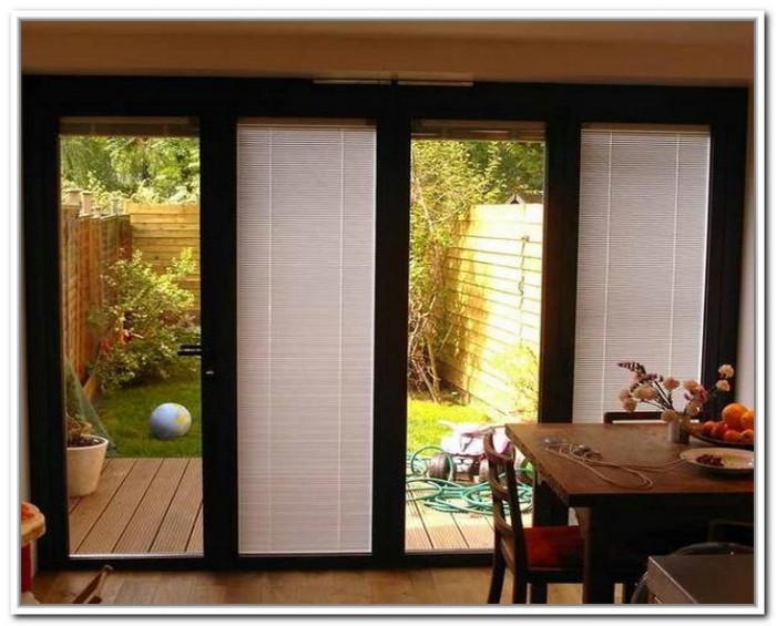 french doors exterior with built in blinds photo - 6