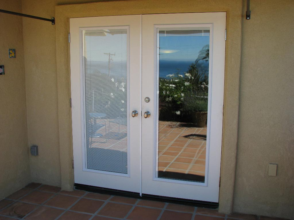french doors exterior with built in blinds photo - 7