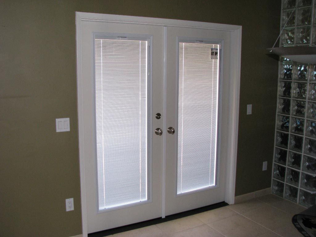 french doors exterior with built in blinds photo - 8