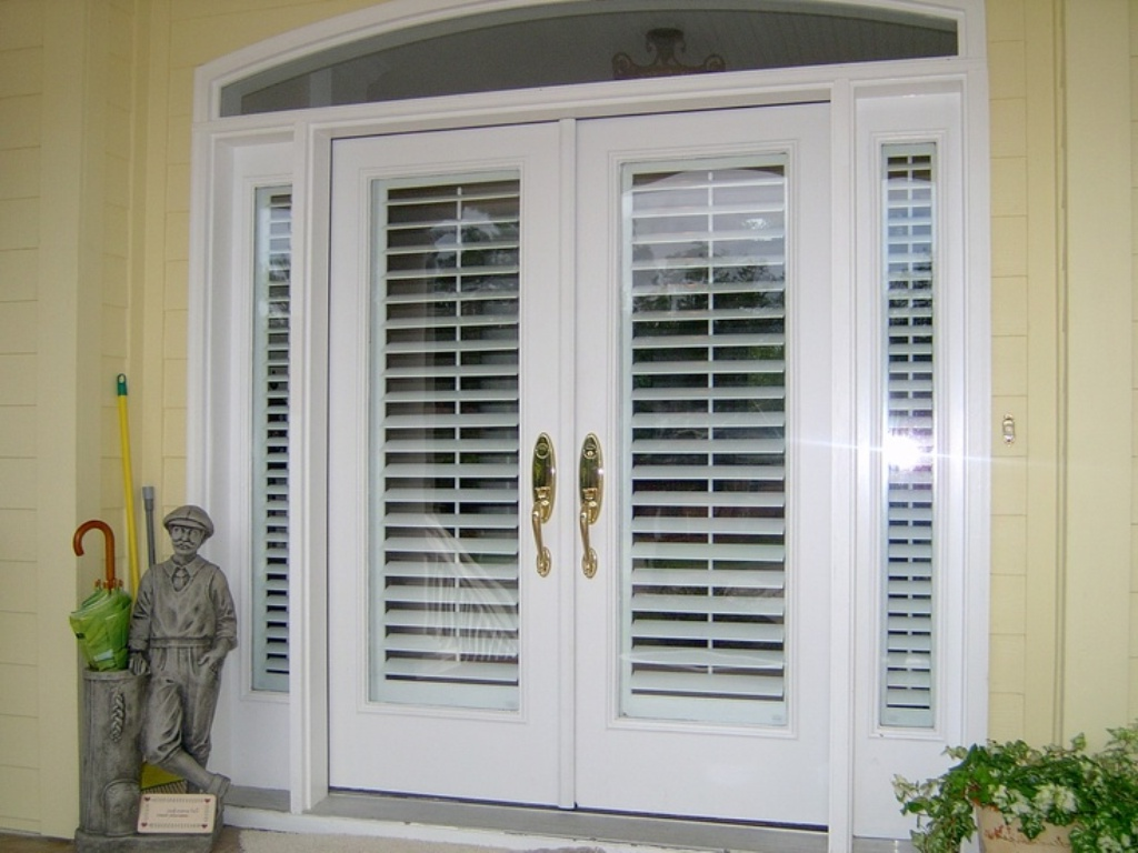 french doors exterior with built in blinds photo - 9