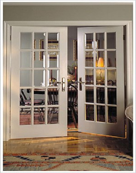 french doors interior beveled glass photo - 10