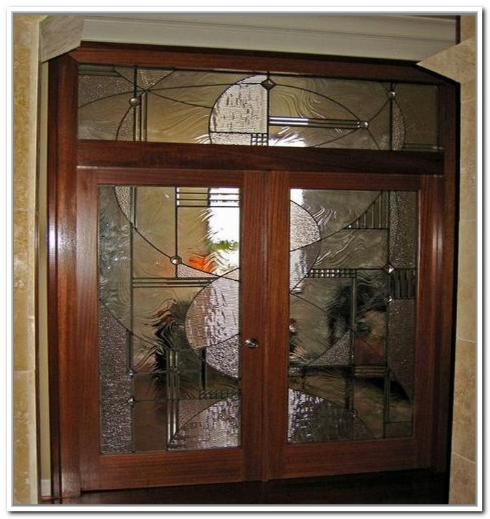 french doors interior beveled glass photo - 3