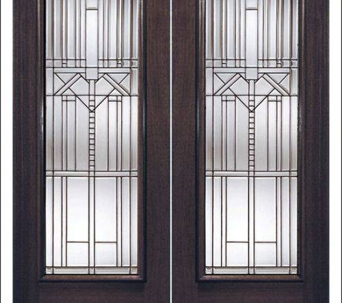 french doors interior beveled glass photo - 4