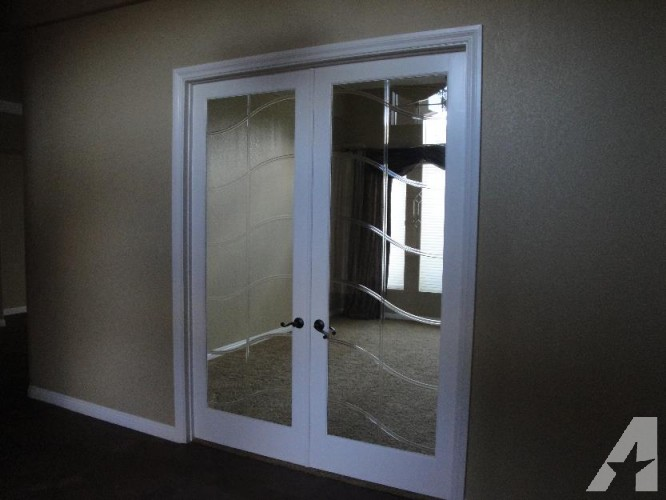 french doors interior beveled glass photo - 5