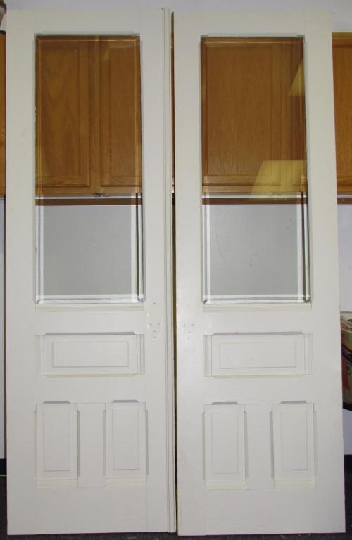 french doors interior beveled glass photo - 7
