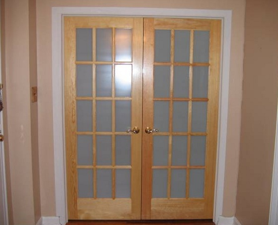 french doors interior frosted glass photo - 5