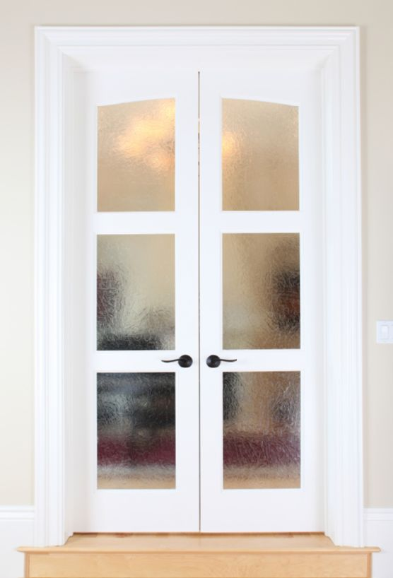 french doors interior frosted glass photo - 8