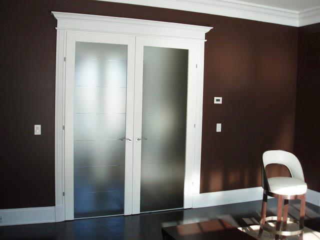 french doors interior frosted glass photo - 9