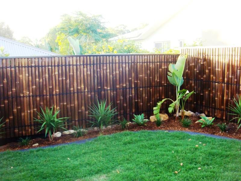 garden bamboo fencing ideas photo - 9
