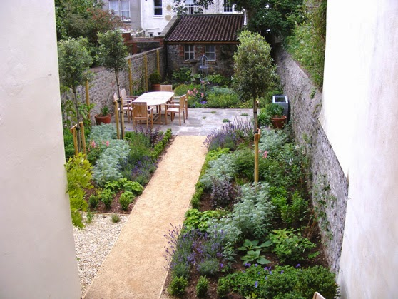 garden design ideas for long thin gardens photo - 10