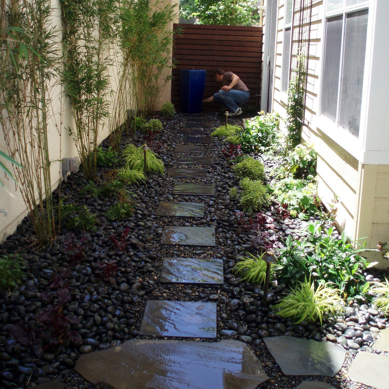 garden design ideas for long thin gardens photo - 5