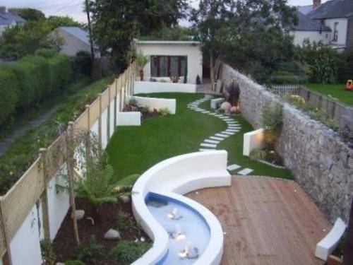 garden design ideas for long thin gardens photo - 7