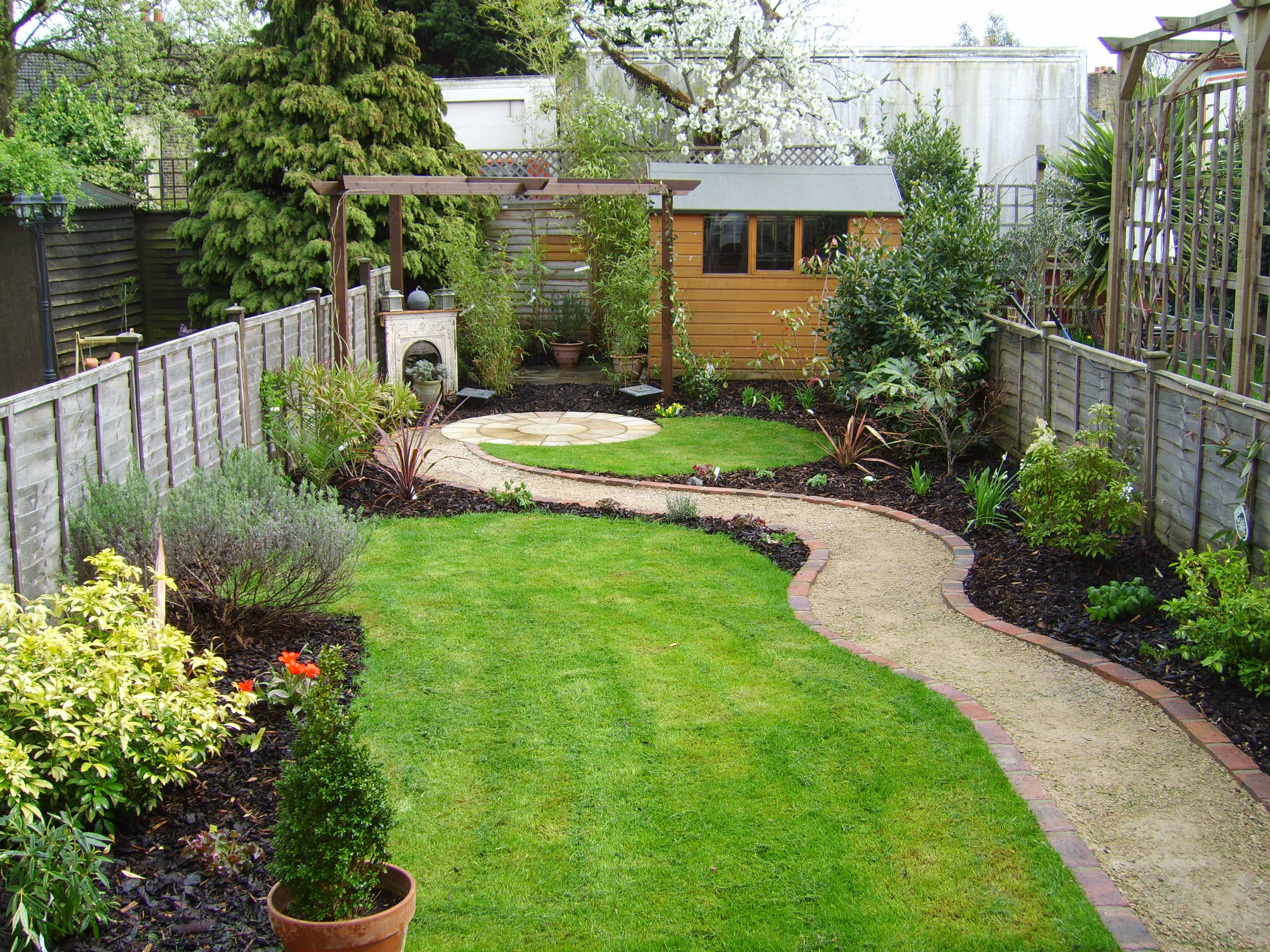garden design ideas for long thin gardens photo - 8