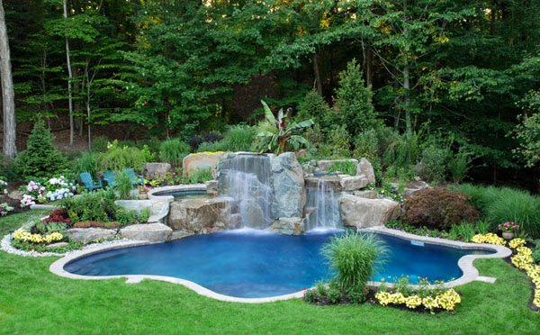 garden design ideas with pool photo - 10
