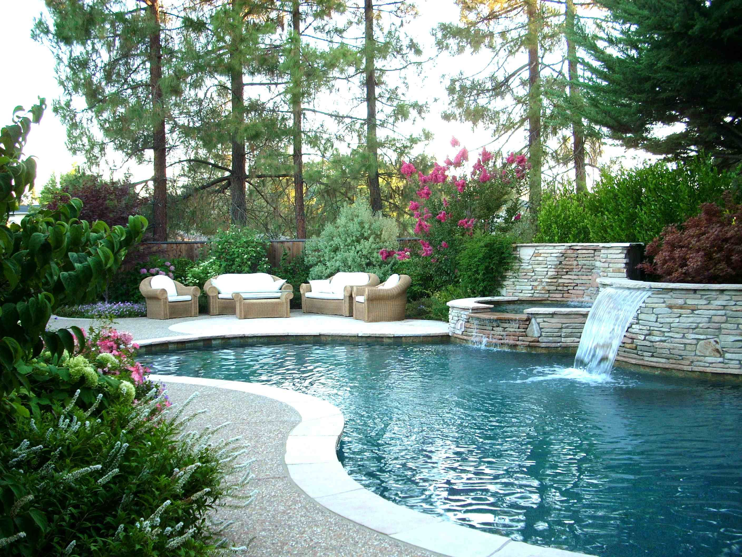 garden design ideas with pool photo - 2