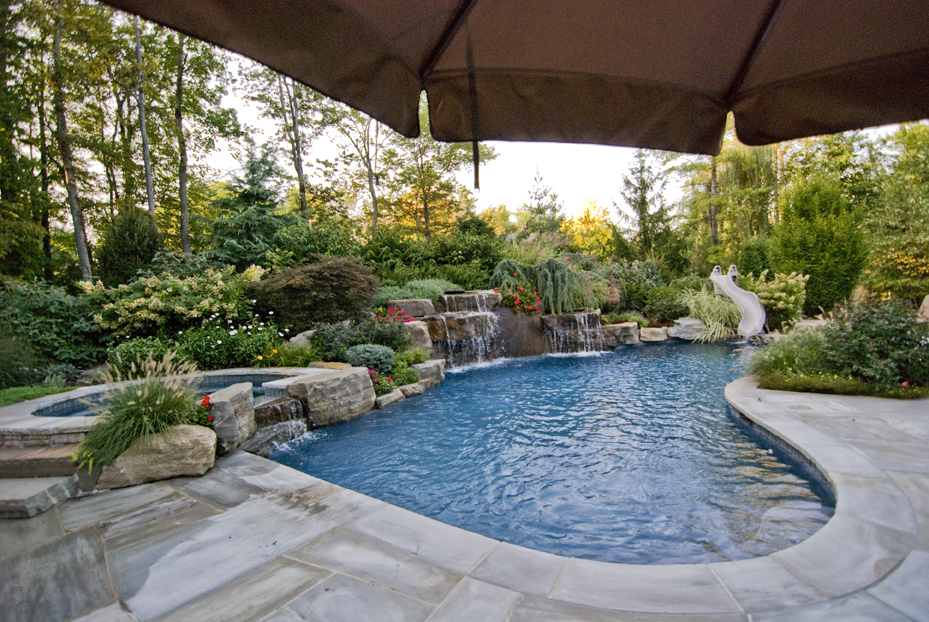 garden design ideas with pool photo - 4