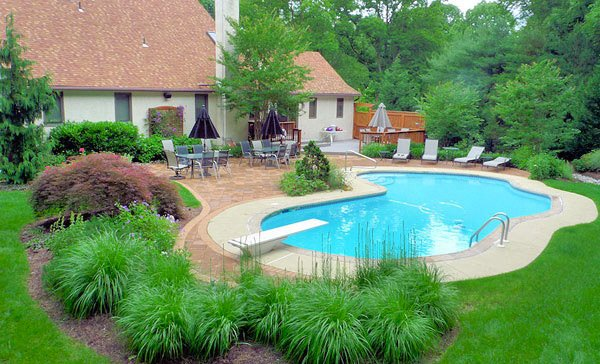 garden design ideas with pool photo - 5