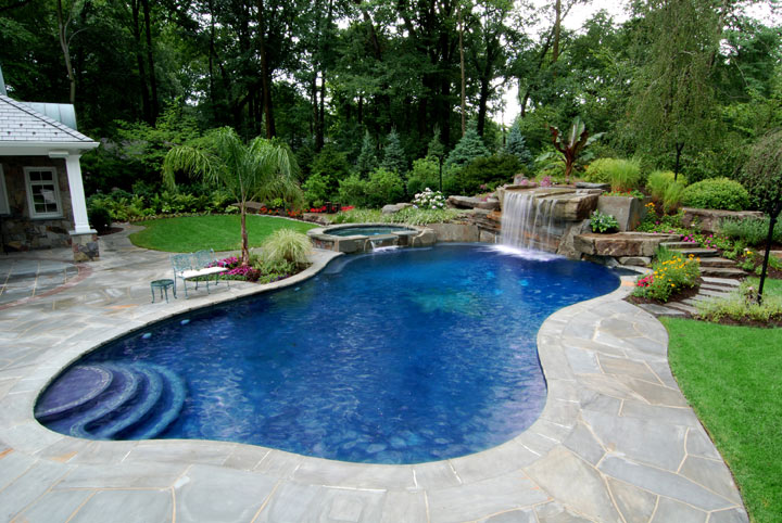 garden design ideas with pool photo - 7