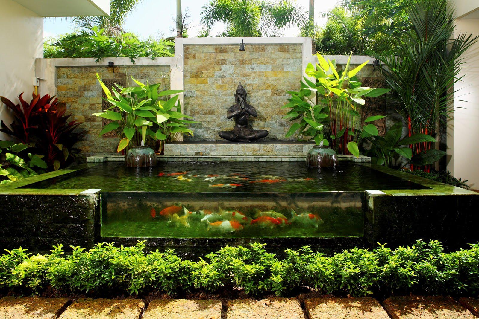 garden pond fountain ideas photo - 1